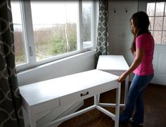 Ana White   Desks that Convert to Table for our Tiny House on Wheels - DIY Projects