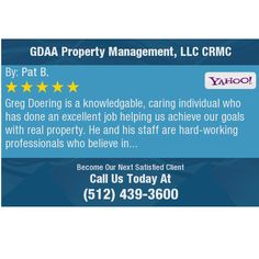 Greg Doering is a knowledgable, caring individual who has done an excellent job helping us...