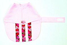 Toy Teacup Small Dog Dress Pink Seersucker by BloomingtailsDogDuds