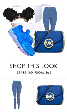 """""""Untitled #334"""" by tatavines ❤ liked on Polyvore featuring NIKE, Topshop and MICHAEL Michael Kors"""