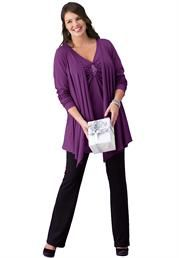 Plus Size Sequin Tunic from Woman Within