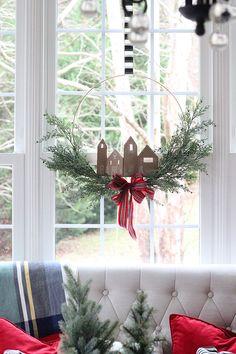 Christmas Hoop Wreath With Gingerbread
