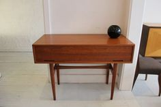 Console in teak, c.1960's. Designed by Cliff Hayton and manufactured by Hayson Furniture, Melbourne.