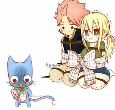 Natsu seems comfortable with this situation Fairy Tail Love, Fairy Tail Nalu, Arte Fairy Tail, Fairy Tail Funny, Fairy Tale Anime, Fairy Tail Family, Fairy Tail Natsu And Lucy, Fairy Tail Guild, Fairy Tail Couples