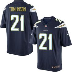 wholesale dealer cdbed 31bc9 kids san diego chargers 21 ladainian tomlinson nike light ...