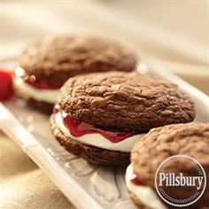 Raspberry Creme Whoopie Pies from Pillsbury® Baking