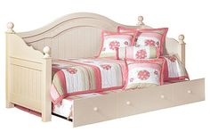 """The Cottage Retreat Day Bed w/ Trundle from Ashley Furniture HomeStore (AFHS.com). The """"Cottage Retreat"""" youth bedroom collection takes early American country design to create a fun and inviting cottage retreat perfect for any child's bedroom."""