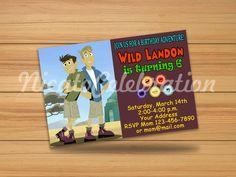 Wild Kratts Design Invitaion - Digital File