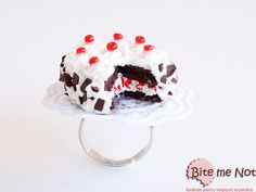 Food Jewelry Black Forest Cake Ring Miniature Food by BiteMeNot