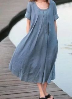 Blue skirts women skirt fashon skirts Long Skirts by Linen Dresses, Cotton Dresses, Day Dresses, Plus Size Dresses, Boho Fashion, Fashion Dresses, Kurta Designs, Indian Designer Wear, Maternity Dresses