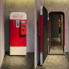 Bar hidden behind Coca Cola machine in Shanghai