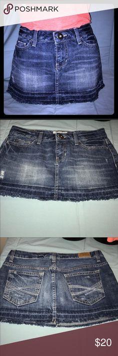 Aeropostale Jean Skirt Size 3/4 🔵Aeropostale Jean Skirt Size 3/4🔵 🔵Size 3/4🔵 🔵Waist: 14/28🔵 🔵Fabric: 100% Cotton🔵 🔵Color: Denim skirt🔵 🔵NO Damage, Snags or Stains🔵 Aeropostale Skirts Mini