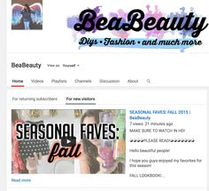 Hello!  I have a new video on my channel which is my FALL FAVES! Make sure to go check it out! And don't forget to comment, like, and subscribe!   My channel is BeaBeauty Or just click the link in my bio or right here! https://www.youtube.com/channel/UCQ7BJEU5hqP-i7kFL8CxYGg