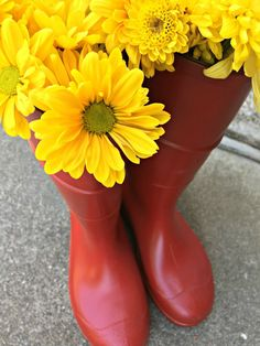 DIY Thrifted Rain Boots | Today's Creative Life