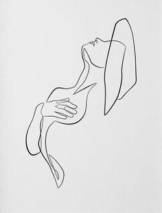 Minimalist Drawing, Minimalist Art, Pencil Art Drawings, Art Drawings Sketches, Outline Art, Line Art Tattoos, Abstract Line Art, Aesthetic Art, Line Drawing