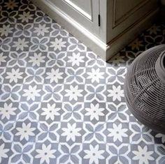 Cement tile series AZUL Ornament Flower Point by Replicata: Dimensions: 1 Floor Design, Tile Design, House Design, Floor Patterns, Tile Patterns, Unique Tile, Floor Ceiling, Tile Floor, House Tiles