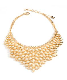 White Jade Southampton Bib Necklace by Amrita Singh