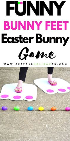 Easter Bunny Feet that will make the entire class or party laugh so hard! You have to see these funny feet! party games Hilarious Bunny Feet Craft for Kids Easter Bingo, Easter Puzzles, Easter Party Games, Easter Activities For Kids, Crafts For Kids, Easter Ideas For Kids, Games For Easter, Easter Crafts For Church Kids, Easter Egg Hunt Ideas