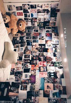 trendy room decor diy for teens dream bedrooms photo walls Tumblr Wall Art, Tumblr Room Decor, Tumblr Rooms, Teen Room Tumblr, Tumblr Bedroom, Diy Room Decor For Teens, Cute Room Decor, Room Decor Bedroom, Teen Wall Decor