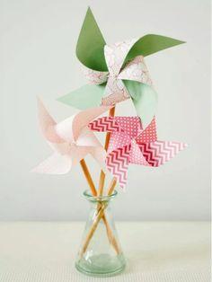 Paper pinwheel arrangement