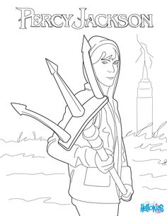 More colouring in fun with Percy Jackson - click on the image to ...