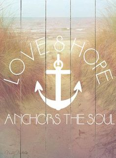 Love & Hope Vintage Beach Sign: Beach Decor, Coastal Home Decor, Nautical Decor, Tropical Island Decor & Beach Cottage Furnishings Vintage Beach Signs, Vintage Decor, Hope Anchor, Beach House Decor, Home Decor, Style Deco, My Sun And Stars, Wall Decor, Wall Art