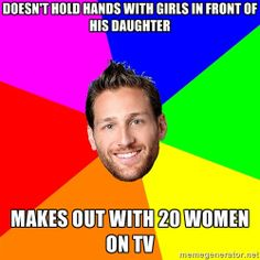 Juan Pablo the Bachelor - Doesn't Hold hands with girls in front of his daughter makes out with 20 women on tv
