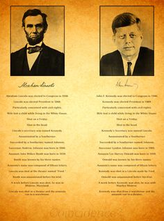 Similarities Between the Deaths and Last Days of Abraham Lincoln and John F Kennedy