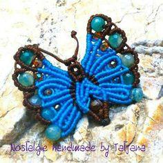 Macrame butterfly F.B. Page Nostalgie handmade by Tatjana https://www.facebook.com/Nostalgie-Handmade-by-Tatjana-425760884176858/