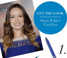 Get The Look: Olivia Wilde's Teal Eyes | theglitterguide.com via @Glitter Guide