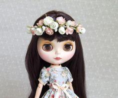 Blythe flower headband, dolls crown, foam floral crown, Eva flower wreath, doll hair accessories, dolls headpiece, wedding accessories