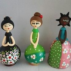 Cabaça - Trio de bonecas