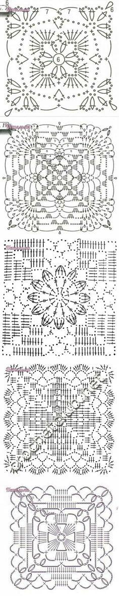 Transcendent Crochet a Solid Granny Square Ideas. Inconceivable Crochet a Solid Granny Square Ideas. Crochet Motif Patterns, Crochet Blocks, Crochet Diagram, Crochet Chart, Crochet Squares, Thread Crochet, Love Crochet, Crochet Granny, Crochet Designs
