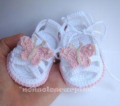 """Scarpine per neonati - sandali """"La prima estate 3"""" - un prodotto unico di…"""