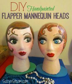 Flapper Mannequin Head