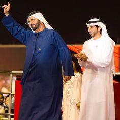 Mohammed bin Rashid bin Saeed Al Maktoum y Hamdan bin Mohammed bin Rashid Al Maktoum, DWC, 29/03/2014. Foto: essa1010