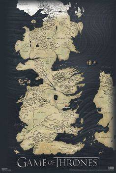 Póster Juego de Tronos. Mapa