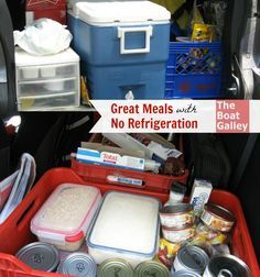 No Refrigeration Meals -  4-day meal plan for a trip without refrigeration. Not just making do, but having enjoyable and healthy meals!
