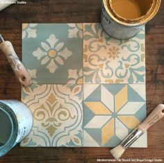 Painting Global Style for Less with Stencils & Chalk Paint® - Bohemian Decor DIY Ideas via Peinture - Royal Design Studio Tile Stencils