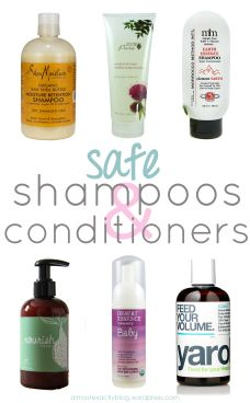 safe shampoos & conditioners (free from harsh chemicals!) 過酷な化学物質からフリー