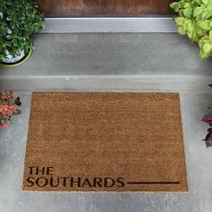 "Nothing says ""Welcome Home"" like a personalized door mat! Guests and family will feel right at home from the moment they arrive! Each doormat is engraved with your last name as pictured."