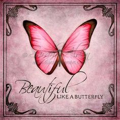 Valentines Day Gift Butterfly Art Print You Are Beautiful - Butterfly Art Quote Print Shabby Chic Art Beautiful Inspiration Painting Decor Sarah Alden By Foreverfairy On Etsy Butterfly Art Quote Print Shabby Chic Art Beautiful Inspiration Pai Butterfly Painting, Butterfly Watercolor, Butterfly Wallpaper, Pink Butterfly, Watercolor Art, Butterfly Background, Butterfly Quotes, Butterfly Gifts, Butterfly Kisses