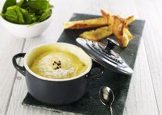 Cocotte de Rocamadour de chez Chambon au mascarpone et à la truffe par le chef Stéphane Chambon #recette #chef #apéritif #cocotte