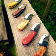 hunting knife hand forged knife drop point by CarterandSonForge