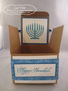 Hanukkah Gift Box with Bow Inside