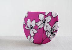 Autumn Wind Clutch - purple flower circle clutch