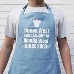 Personalised 'Personal Chef' Apron - shop by room