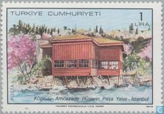 Postage Stamps - Turkey - Traditionele huizen