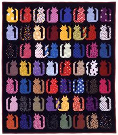 """Cat quilt from Martingale - """"Cat's Meow"""" eBook"""