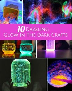 Bright, fun and sensory glow in the dark crafts for kids.